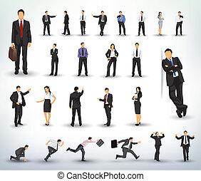 illustrationer, affärsfolk