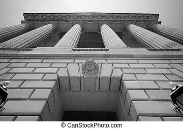 imponerande, byggnad, washington washington dc, regering