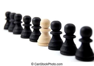 individ, schack, folk