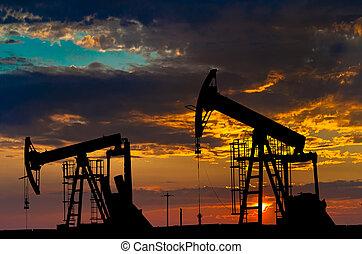 industri, olja, equipment., pumps.