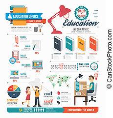 infographic, begrepp, vektor, design, mall, illustrat, utbildning