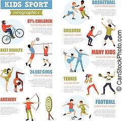 infographics, sätta, sport, lurar