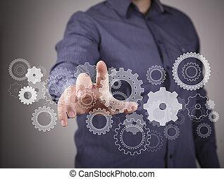 ingenjörsvetenskap, design, avbild