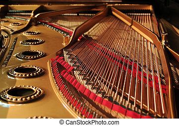 inre, piano, konsert, storslagen