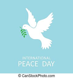 internationell, duva, oliv, fred, filial, dag