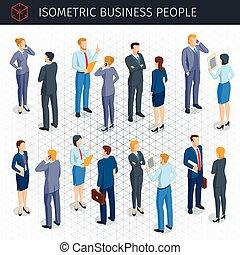 isometric, affärsfolk