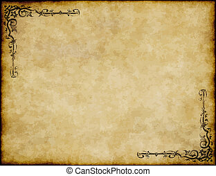 ivrig, gammal, struktur, papper, design, bakgrund, utsirad, pergament