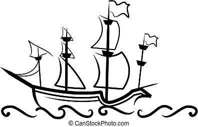 ivrig, skepp, engelsk