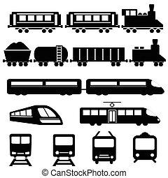 järnväg öva, transport, ikonen