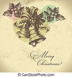 jul, bakgrund, retro
