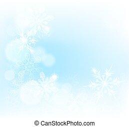 jul, bakgrund, snöflingor