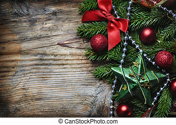 jul, bakgrund, trä