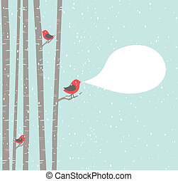 jul, fåglar