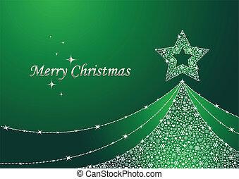 jul, grönt träd