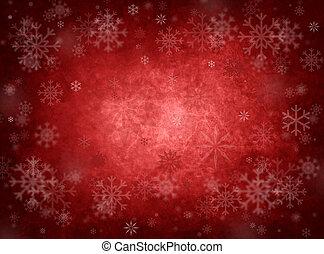 jul, röd fond, is