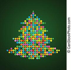 julgran, bildpunkt, bakgrund, jul