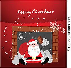 jultomten, rolig, jul, bakgrund