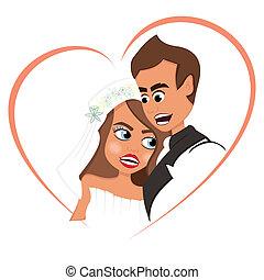 kärlek, nygift person