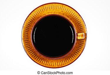 kaffe, topp, kopp