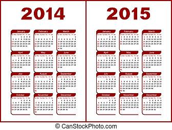 kalender, 2014