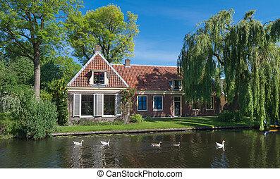 kanal, hus