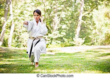 karate, öva, asiat