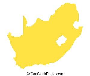 karta, afrika, syd