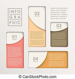 kartlägga, abstrakt, papper, nymodig, infographic, hinder