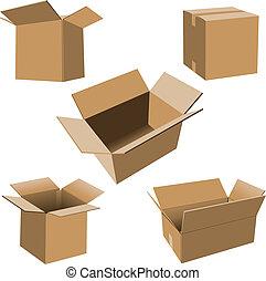 kartong kassera, sätta