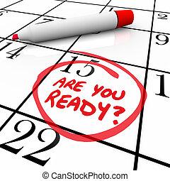 klar, kalender, circled, datera, dig, dag