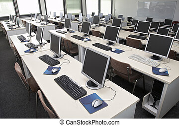 klassrum, dator, 4