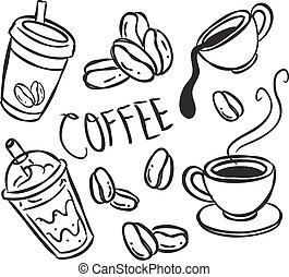 klotter, kaffe