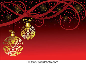 klumpa ihop sig, jul ornamenter, röd