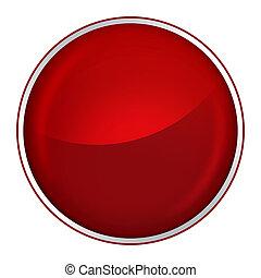 knapp, röd