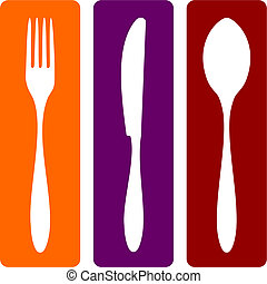 kniv, sked, gaffel