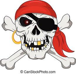 knotor, kranium, korsat, sjörövare