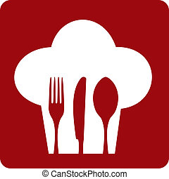 kock, restaurant., ikon