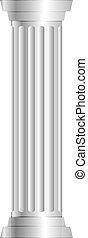 kolonn, grå, vektor, illustration