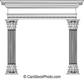 kolonn, grek, välva