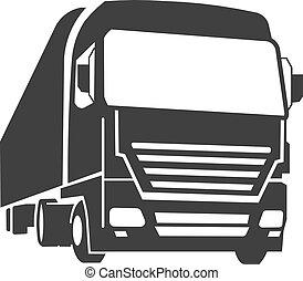 kommersiell, lastbil
