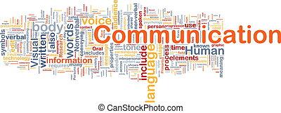 kommunikation, begrepp, bakgrund