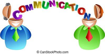 kommunikation, hjärna
