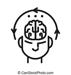 koncentration, design, mental, illustration