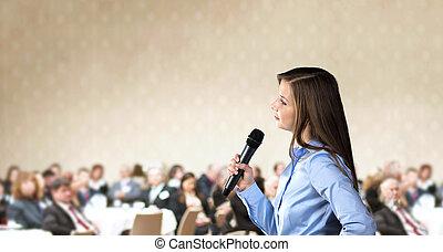 konferens, affär
