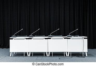 konferens, mikrofoner, möte rum
