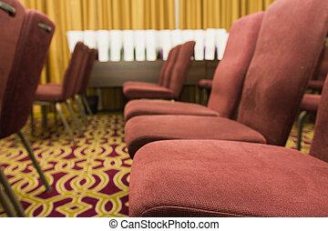 konferens, stol, möte rum