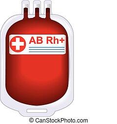 konserverad, donator, blod