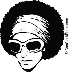 konst, solglasögon, pop, afro-