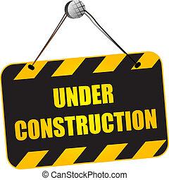 konstruktion under, underteckna