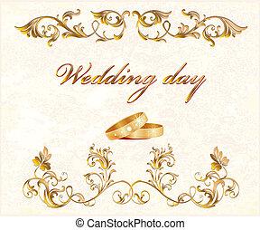 kort, bröllop